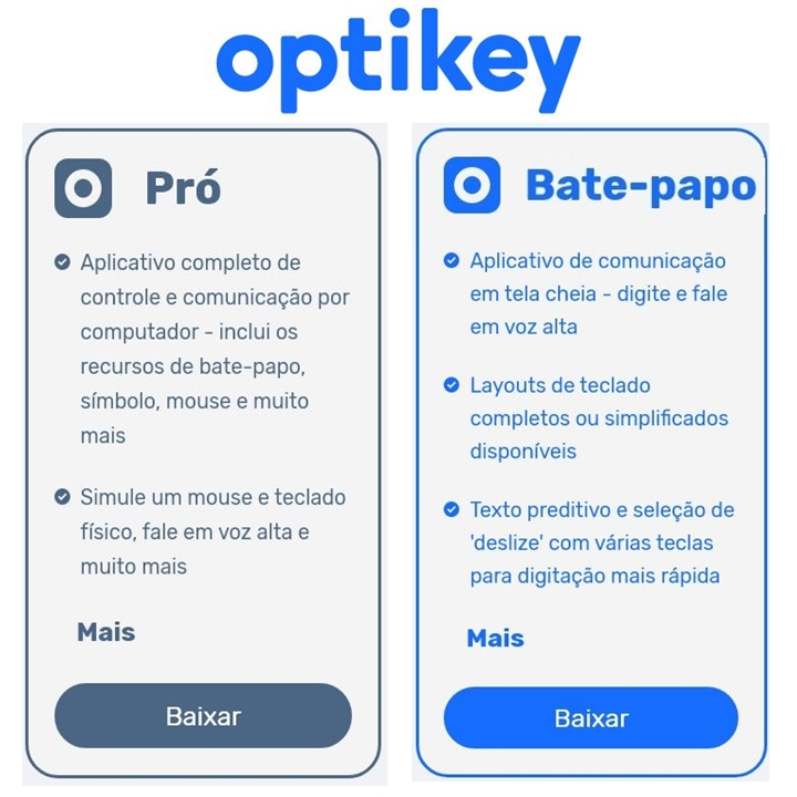 Optikey Pro e Bate-Papo